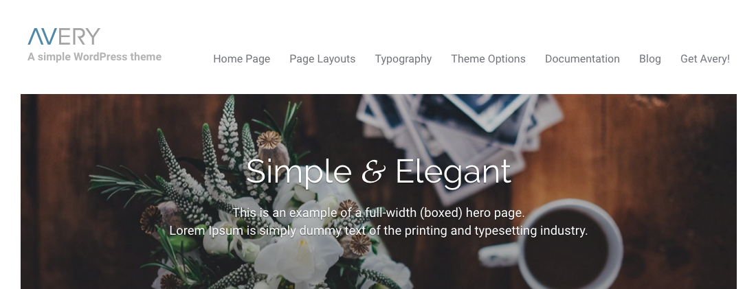 avery wordpress theme by simple themes
